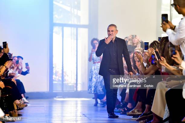 Fashion designer Elie Saab walks the runway during the Elie Saab Haute Couture Fall/Winter 2019 2020 show as part of Paris Fashion Week on July 03...