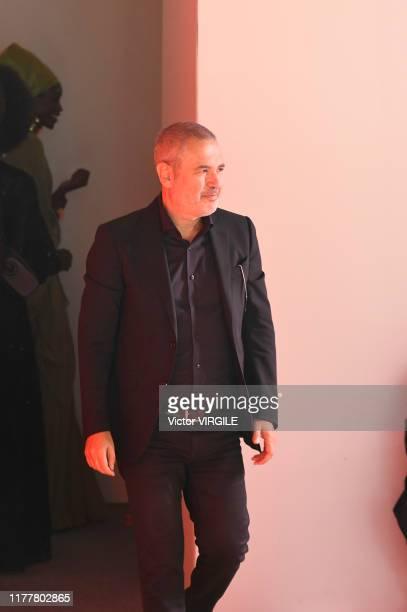 Fashion designer Elie Saab walks the runway during the Elie Saab Ready to Wear Spring/Summer 2020 fashion show as part of Paris Fashion Week on...