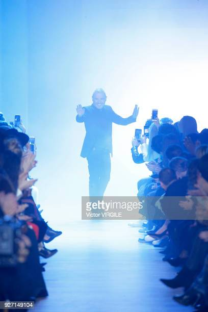 Fashion designer Elie Saab walks the runway during the Elie Saab Ready to Wear fashion show as part of the Paris Fashion Week Womenswear Fall/Winter...