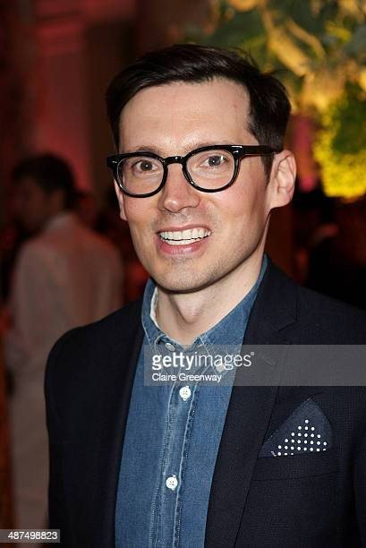 Fashion designer Erdem Moralioglu attends the Wedding Dresses 17752014 Exhibition private view at the Victoria and Albert Museum on April 30 2014 in...