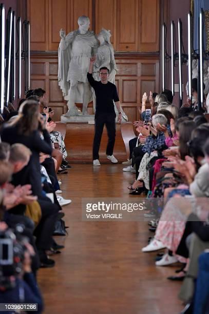 Fashion designer Erdem Moralioglu walks the runway at the ERDEM Ready to Wear Spring/Summer 2019 fashion show during London Fashion Week September...