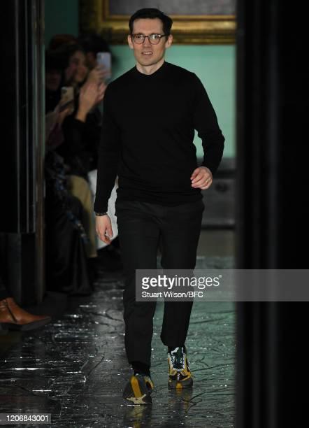 Fashion designer Erdem Moralioglu walks the runway at the Erdem show during London Fashion Week February 2020 on February 17 2020 in London England