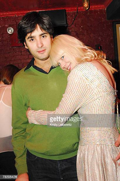 Fashion designer Erin Fetherston and fiance party with Jalouse Magazine at Bella on February 4 2007 in New York