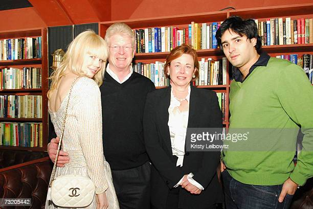 Fashion designer Erin Fetherston father mother and fiance party with Jalouse Magazine at Bella on February 4 2007 in New York