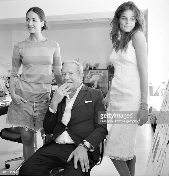 107466012 Fashion designer Ermanno Scervino is photographed with models for Madame Figaro on September 5 2013 in Florence Italy CREDIT MUST READ...