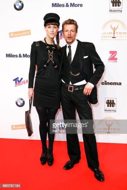 Fashion designer Esther Perbandt and her boyfriend german actor Alexander Scheer attend the Jupiter Award at Cafe Moskau on March 29 2017 in Berlin...