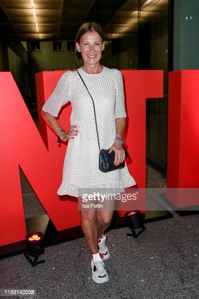 Fashion designer Eva Lutz attends the Bunte New Faces Night at Father Graham on July 1, 2019 in Berlin, Germany.