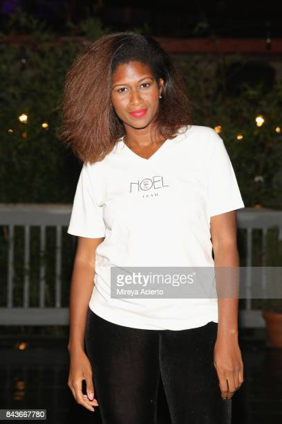 Fashion designer Fe Noel poses backstage during Harlem's Fashion Row Celebrates 10th Anniversary Style Award and Fashion Show at La Marina Restaurant...