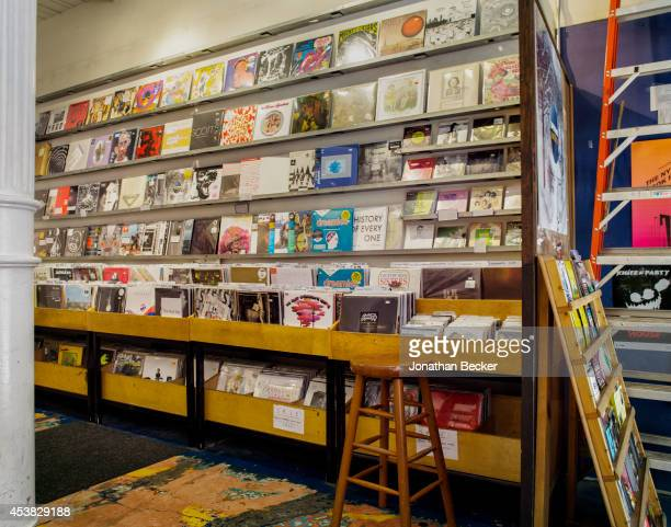 Fashion designer for Calvin Klein Italo Zucchelli's favorite music store Other Music Store is photographed for Vanity Fair Spain on July 11 2013 in...