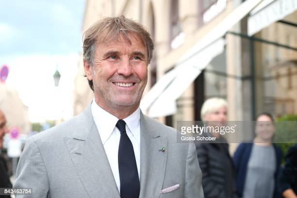 Fashion designer founder and president Brunello Cucinelli during the Brunello Cucinelli Cocktail on September 6 2017 in Munich Germany
