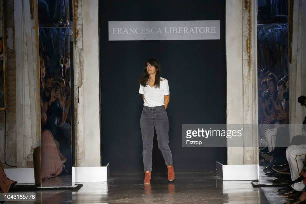 Fashion designer Francesca Liberatore at the Francesca Liberatore show during Milan Fashion Week Spring/Summer 2019 on September 23 2018 in Milan...