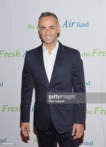 Fashion designer Francisco Costa and Elaina Watley attend the 2014 Fresh Air Fund Honoring Our American Hero at Pier Sixty at Chelsea Piers on May 29...