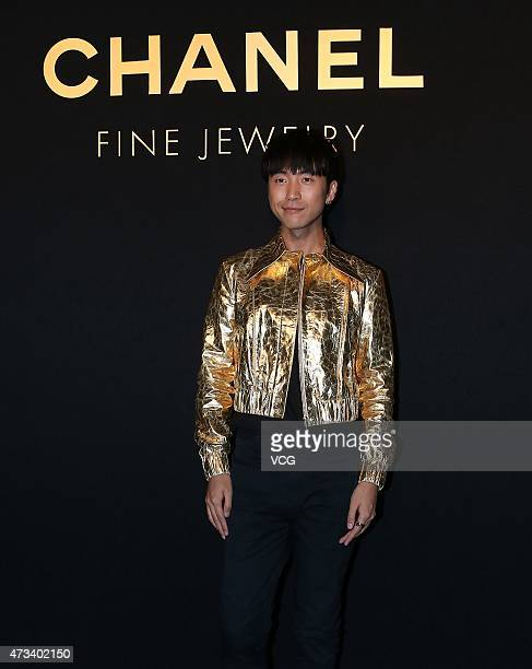 Fashion designer Frankie Han attends the launch event of Chanel's Coco Crush jewelry on May 14 2015 in Beijing China