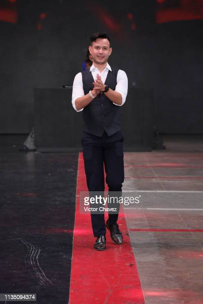 Fashion designer Galo Bertin walks the runway during the MercedesBenz Fashion Week Mexico Fall/Winter 2019 Day 4 at Fronton Mexico on April 4 2019 in...
