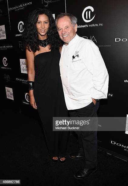 Fashion designer Gelila Assefa and chef Wolfgang Puck attend the fifth annual PSLA Autumn Party benefiting Children's Institute Inc sponsored by Saks...