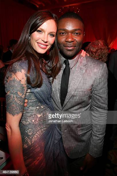 Fashion designer Georgina Chapman and actor David Oyelowo attend The Weinstein Company's Academy Awards Nominees Dinner in partnership with Chopard...