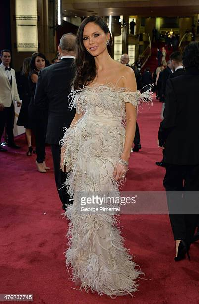 Fashion designer Georgina Chapman attends the Oscars held at Hollywood Highland Center on March 2 2014 in Hollywood California