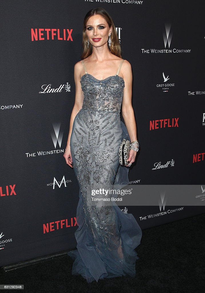 Fashion designer Georgina Chapman attends The Weinstein Company and Netflix Golden Globe Party, presented with FIJI Water, Grey Goose Vodka, Lindt Chocolate, and Moroccanoil at The Beverly Hilton Hotel on January 8, 2017 in Beverly Hills, California.