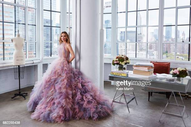 Fashion designer Georgina Chapman is photographed for Hello magazine on October 28 2016 in New York City