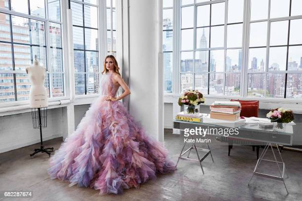 Fashion designer Georgina Chapman is photographed for Hello magazine on October 28 2016 in New York City