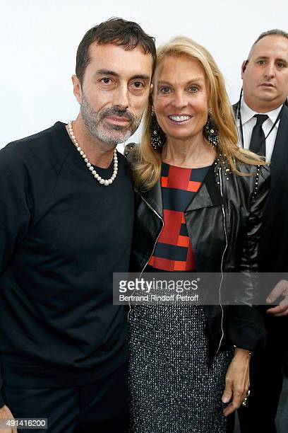 Fashion Designer Giambattista Valli and Ambassador of USA in France Jane D Hartley attend the Giambattista Valli show as part of the Paris Fashion...
