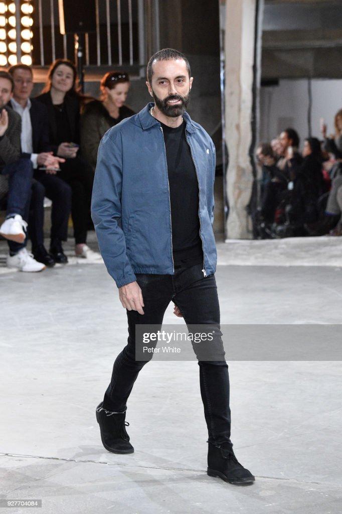 Fashion designer Giambattista Valli walks the runway after the Giambattista Valli show as part of the Paris Fashion Week Womenswear Fall/Winter 2018/2019 on March 5, 2018 in Paris, France.