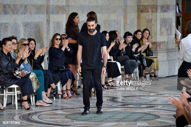 Fashion designer Giambattista Valli walks the runway during the Giambattista Valli Haute Couture Fall/Winter 20172018 show as part of Haute Couture...