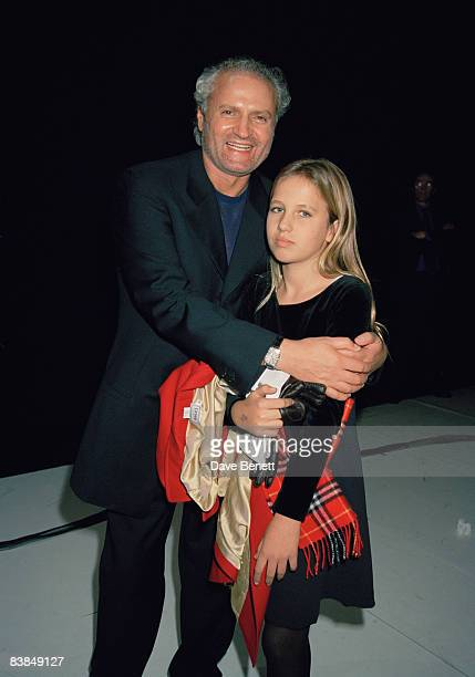 Fashion designer Gianni Versace with his niece Allegra at 'The Show Must Go On' a performance by Le Ballet Bejart in Paris 17th January 1997