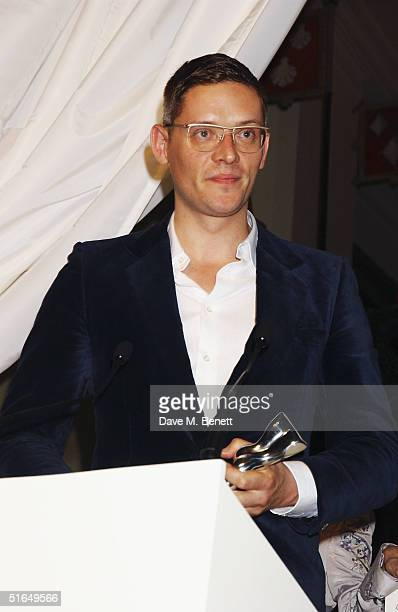 Fashion designer Giles Deacon attends the British Fashion Awards 2004 at the Victoria and Albert Museum on November 2 2004 in London Run by the...