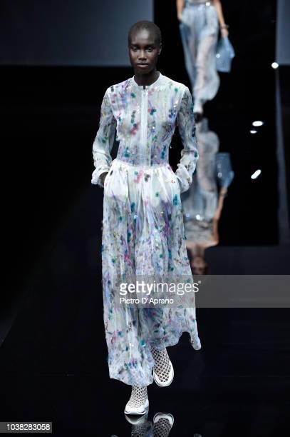 Fashion designer Giorgio Armani at the Giorgio Armani show during Milan Fashion Week Spring/Summer 2019 on September 23 2018 in Milan Italy