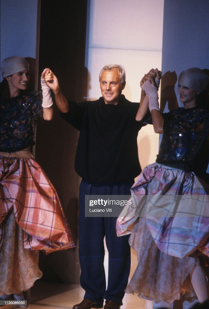 Fashion Designer Giorgio Armani During A Fashion Show Milan Italy News Photo Getty Images