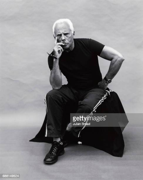 Fashion designer Giorgio Armani is photographed in London England