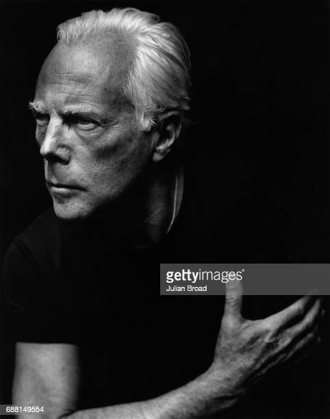 Fashion designer Giorgio Armani is photographed in London England