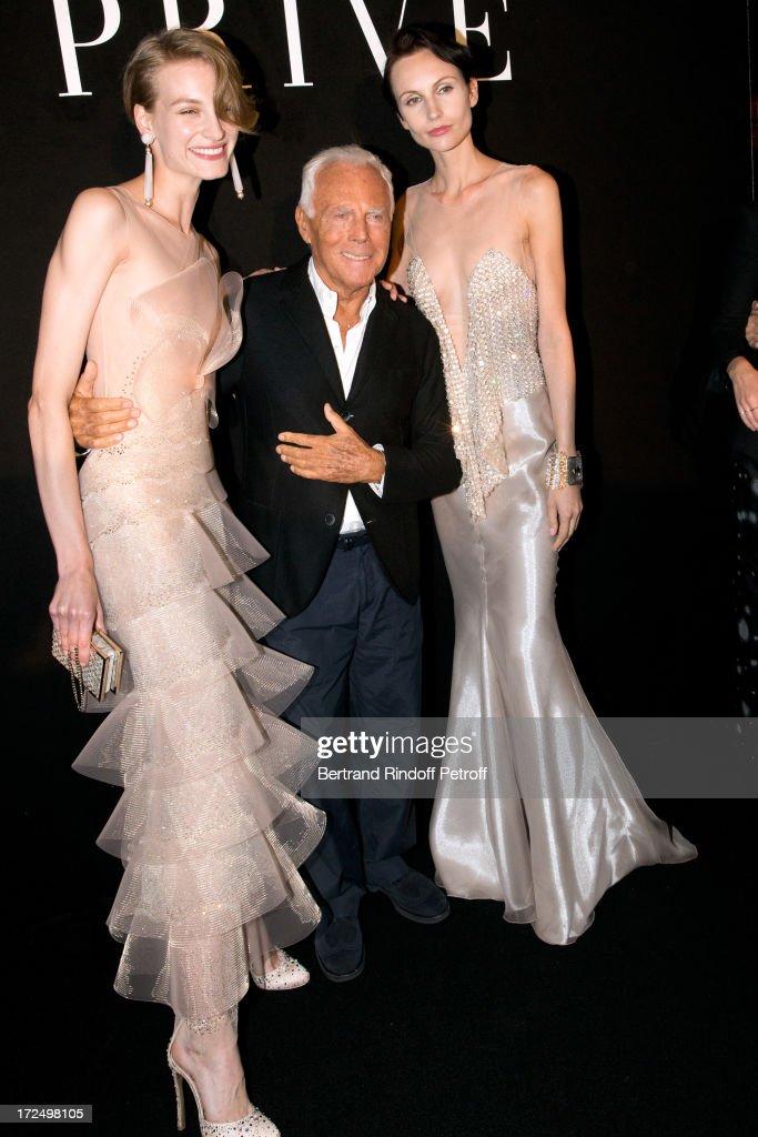 Giorgio Armani Prive: Backstage - Paris Fashion Week Haute-Couture F/W 2013-2014 : Foto jornalística