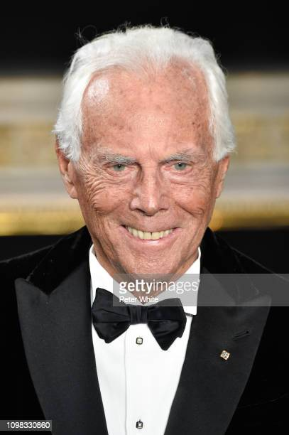 Fashion designer Giorgio Armani walks the runway during the finale of Giorgio Armani Prive Spring Summer 2019 show as part of Paris Fashion Week on...