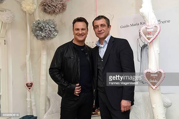Fashion designer Guido Maria Kretschmer and Juergen Habermann attend the Guido Maria Kretschmer by heine Collection Presentation on December 3 2014...