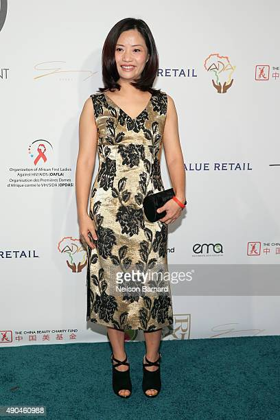 Fashion designer Guo Pei attends the Fashion 4 Development's 5th annual Official First Ladies luncheon at The Pierre Hotel on September 28 2015 in...