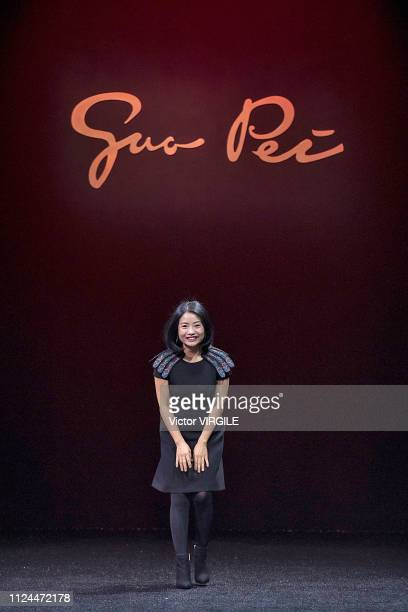 Fashion designer Guo Pei walks the runway during the Guo Pei Spring Summer 2019 show as part of Paris Fashion Week on January 23, 2019 in Paris,...