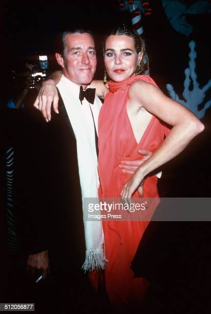 Fashion designer, Halston, and Margaux Hemingway in New York City, circa 1975.