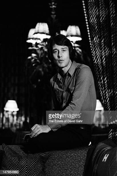 Fashion designer Halston poses for a photograph at home on September 9, 1969 in New York City.