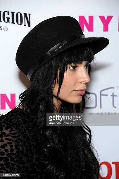 Fashion designer Hanna Beth arrives at the NYLON Magazine June/July Music Issue Launch Party With Shirley Manson at The Roxy Theatre on May 30 2012...