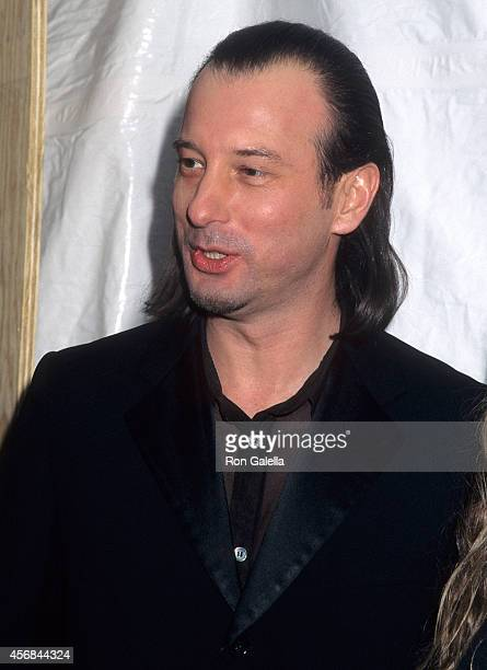 Fashion designer Helmut Lang attends the One Night One Century 100th Anniversary Celebration of the Louis Vuitton Monogram on February 15 1996 at The...