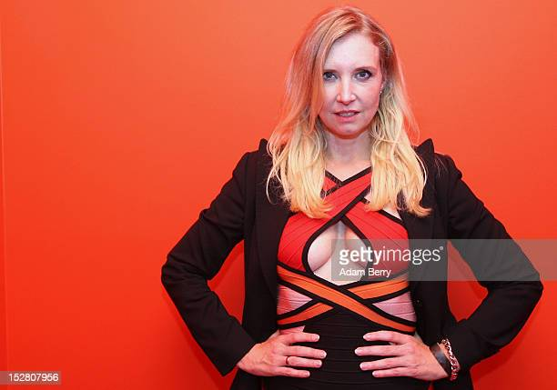 Fashion designer Henriette Elisabeth Joop known as Jette Joop poses on September 26 2012 at the official opening party of the Google offices in...