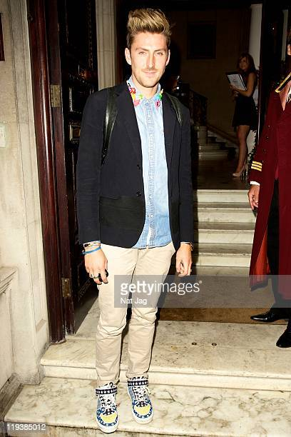 Fashion designer Henry Holland attends the launch of Gallo's new drink 'Summer Red' on July 19 2011 in London England