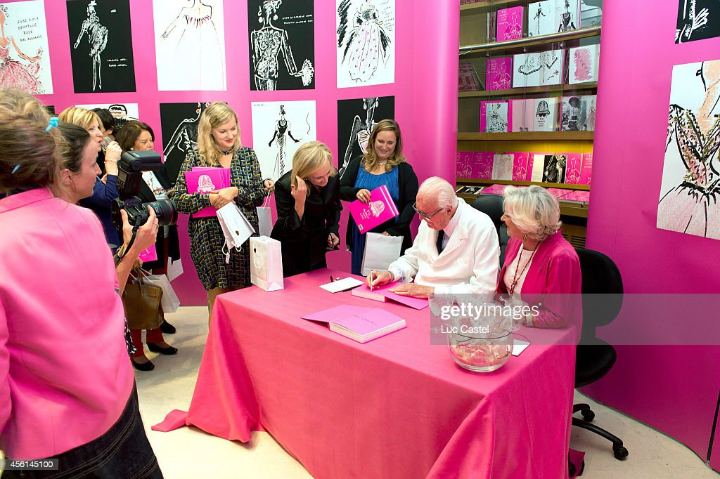 Fashion Designer Hubert De Givenchy signs his book 'To Audrey with Love' at Christie's as part of the Paris Fashion Week Womenswear Spring/Summer 2015 on September 25, 2014 in Paris, France.