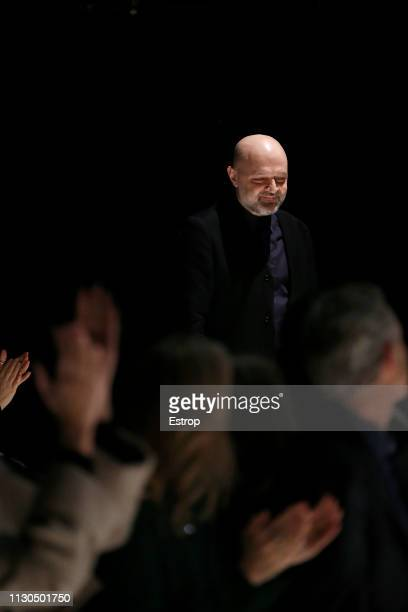 Fashion designer Hussein Chalayan at the Chalayan show during London Fashion Week February 2019 at the on February 18 2019 in London England