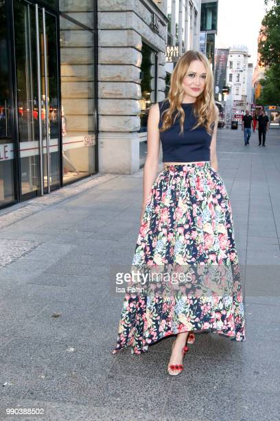 Fashion designer Ilona Matsour during the Bunte New Faces Night at Grace Hotel Zoo on July 2 2018 in Berlin Germany