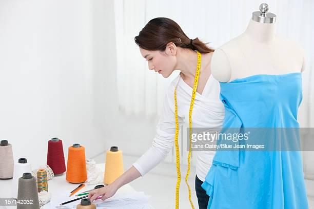 Fashion designer in work