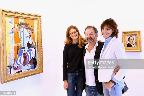 Fashion Designer Ines de la Fressange her daughter Violette d'Urso and President of Lagardere Active Denis Olivennes attend the 'Picasso National...