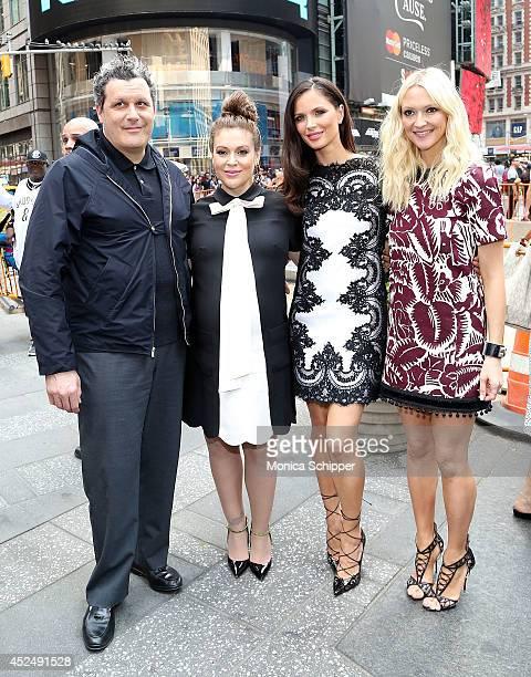 Fashion designer Isaac Mizrahi actress Alyssa Milano Fashion designer and cofounder of fashion label Marchesa Georgina Chapman and Zanna Roberts...